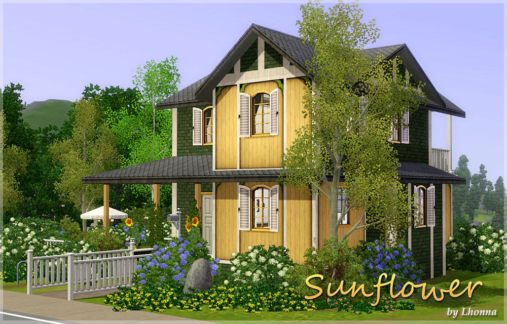Mod The Sims Sunflower Small House For A Family
