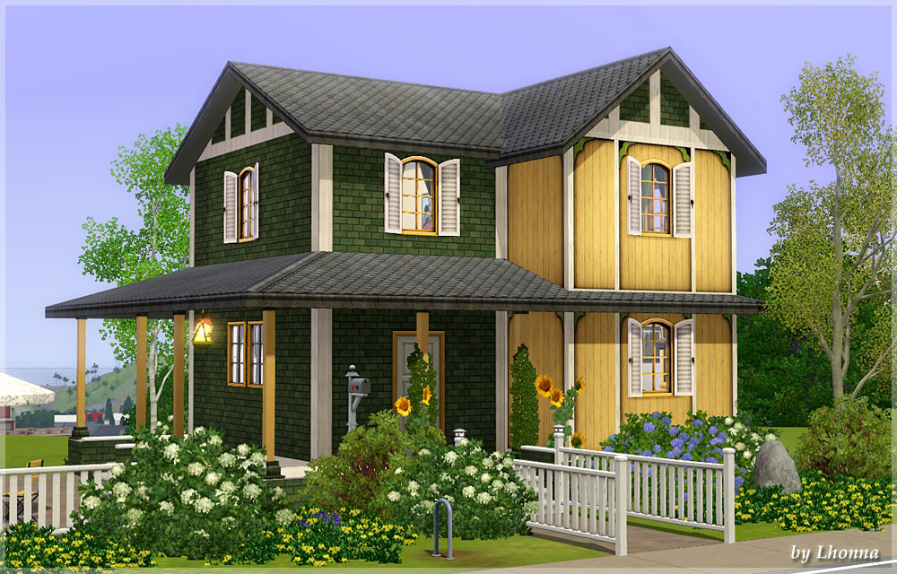 mod the sims - sunflower - small house for a family