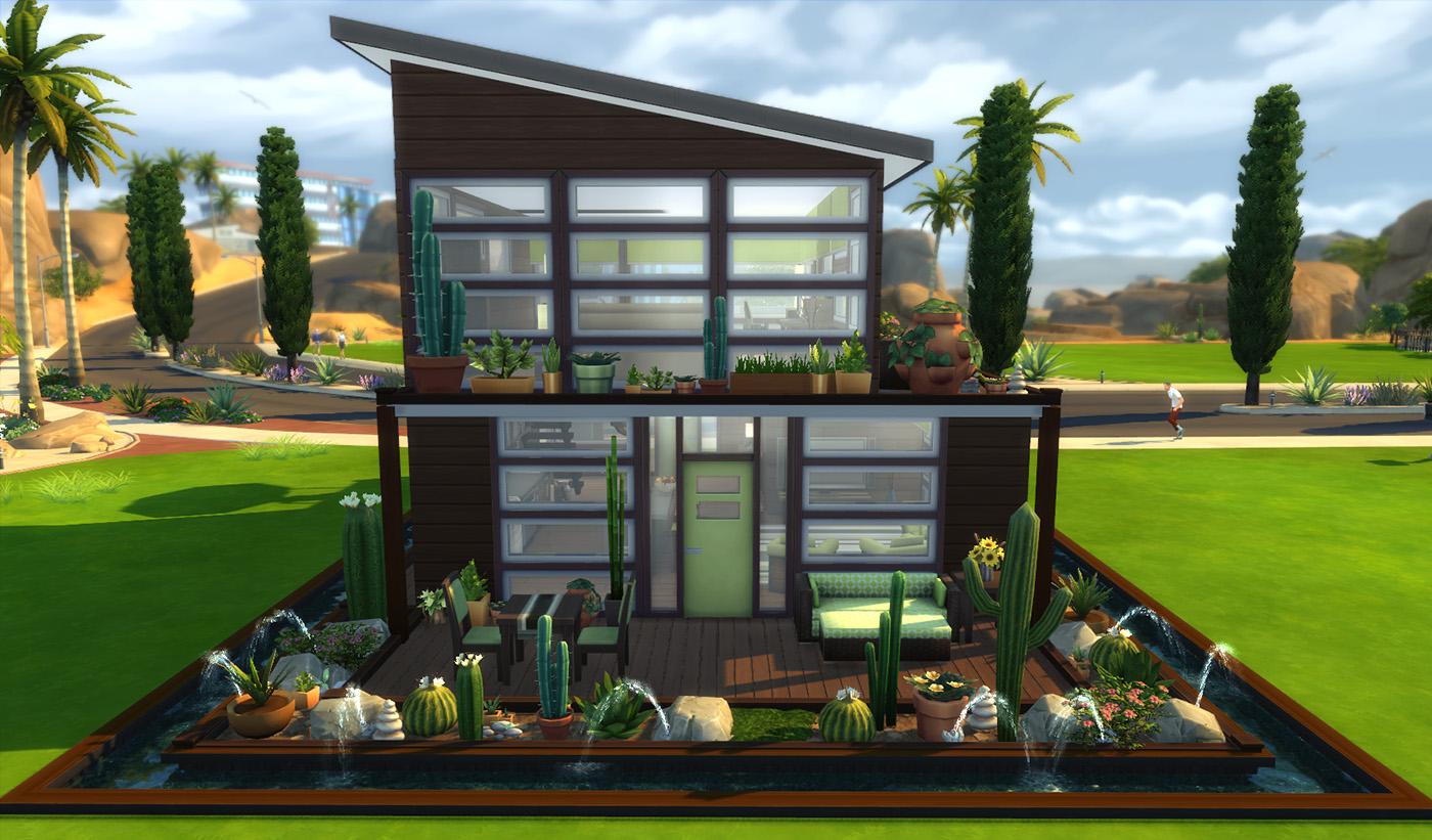 Mod The Sims - The Cantilatrix (1br, 1 bath) (no CC)