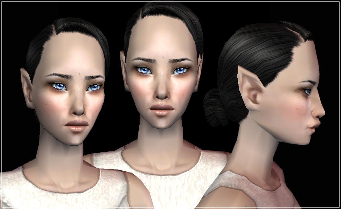 mod the sims helaene default cas elf face replacements