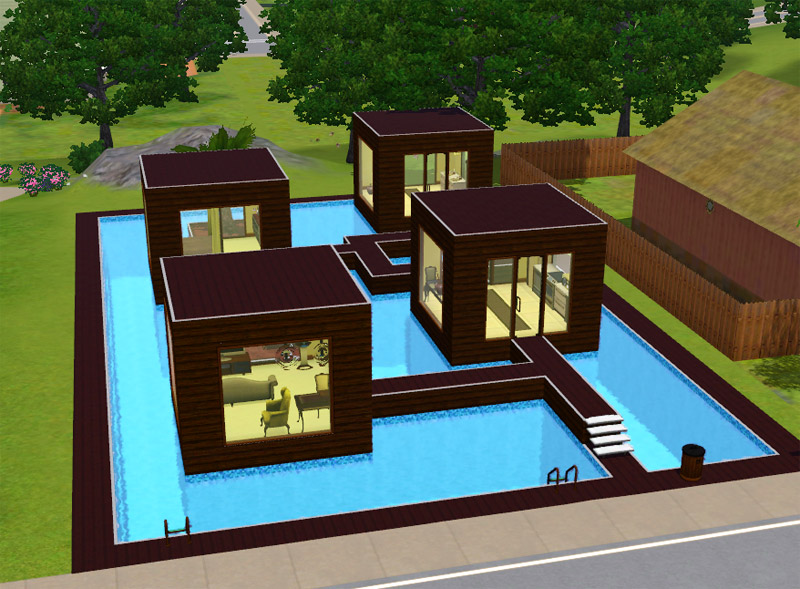 Mod the sims featured creator cubonica design for Sims 3 home designs
