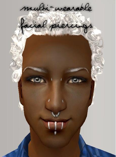 piercings places. hair types of facial piercings