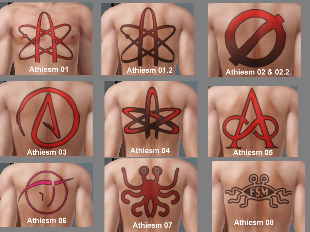 Atheist Symbol Tattoo Gallery Meaning Of This Symbol