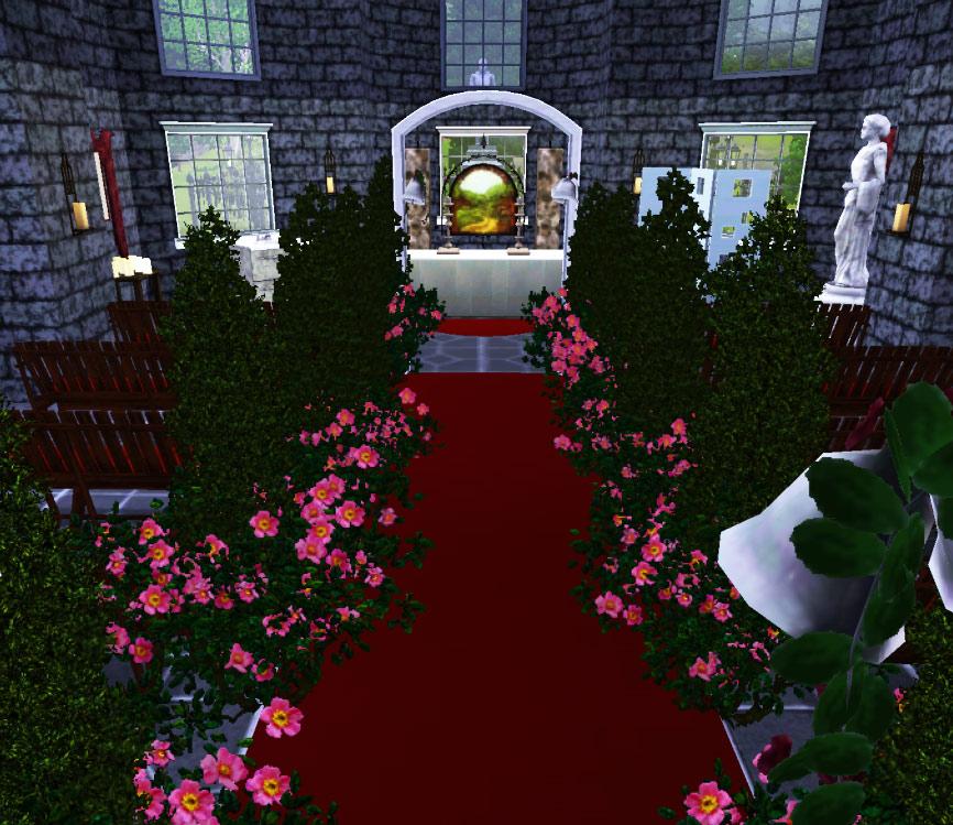 Wedding Altar Sims: St Mary The City Church