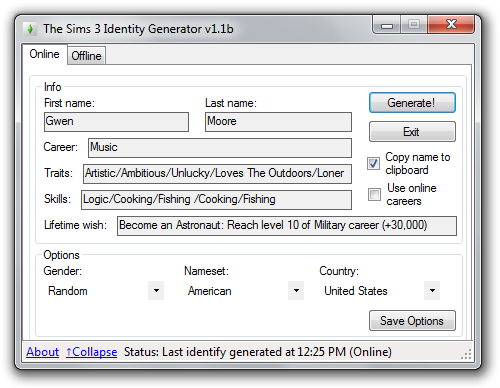 Random sims 4 generator