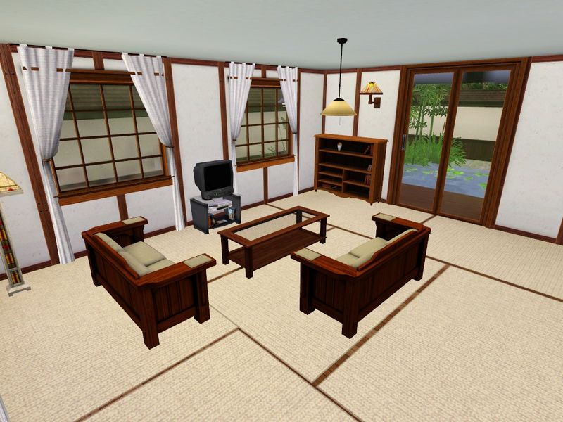 Traditional Japanese Living Room mod the sims - the yomoshoto residence - a traditional japanese house