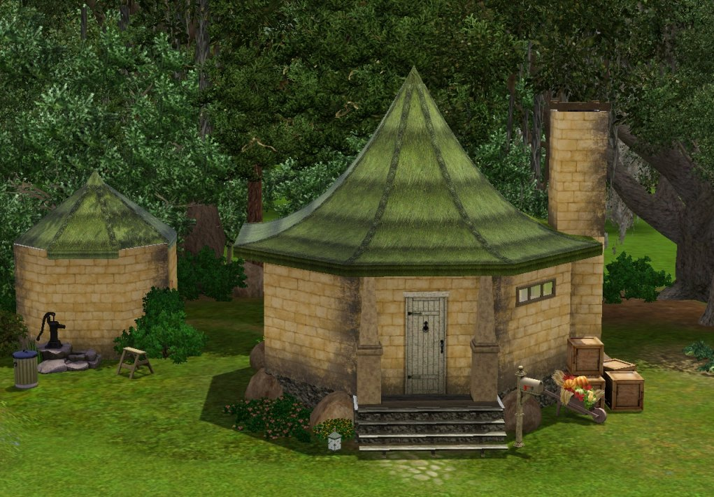 Mod the sims hagrid s hut What house was hagrid in