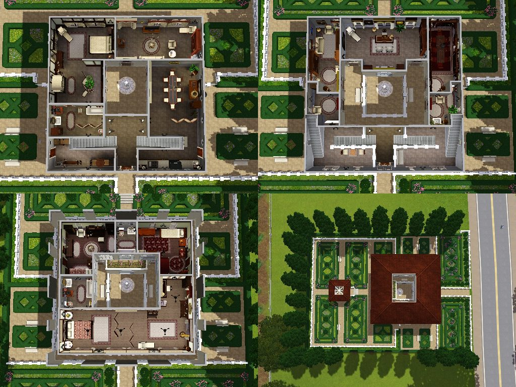 Mod the sims villa del doge an italian villa for Italian villa floor plans