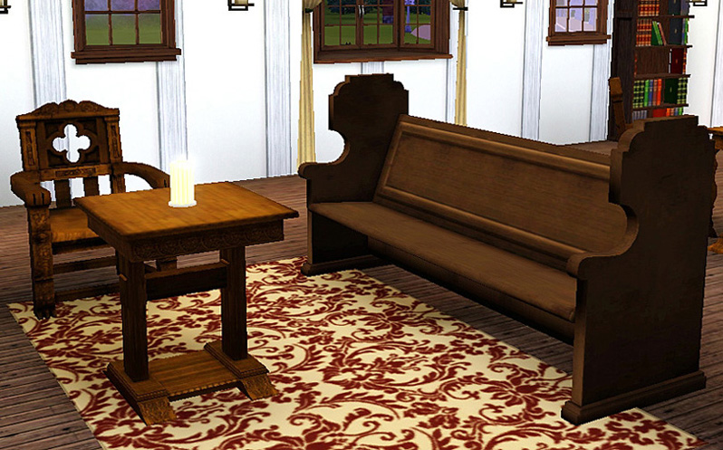 Mod the sims medieval living room set sims 2 conversion for 3 star living room chair sims