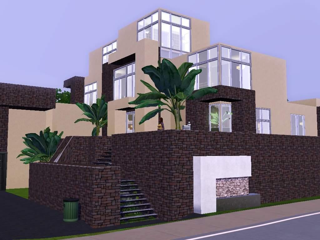 Mod the sims adobe pueblo modern a modern take on a for Modern house 8 part 3