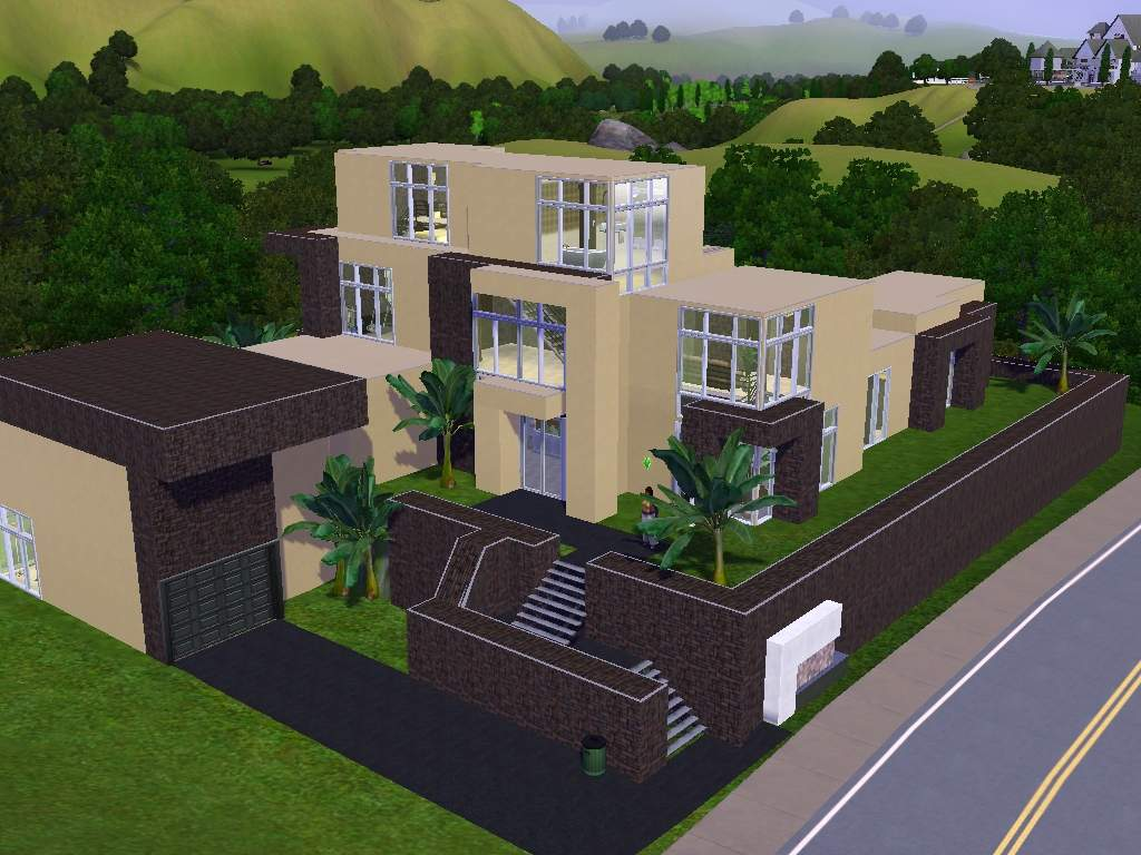 Mod The Sims Adobe Pueblo Modern A Modern Take On A
