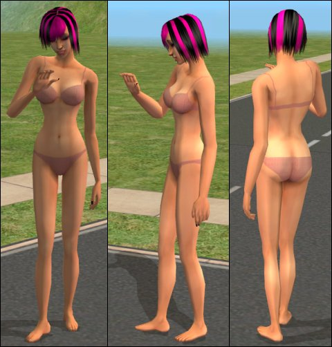 Mod The Sims - OLD SIMS2 // Inebriant 34c SexyBum Panties v1 Set