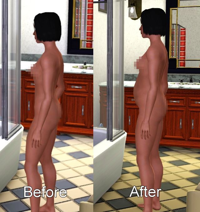 Mod The Sims - Fixes for missing pregnant morphs - nude and jeans - update ...