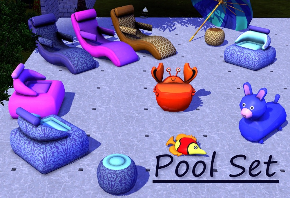 Mod the sims pool set seven new meshes for Pool design sims 4
