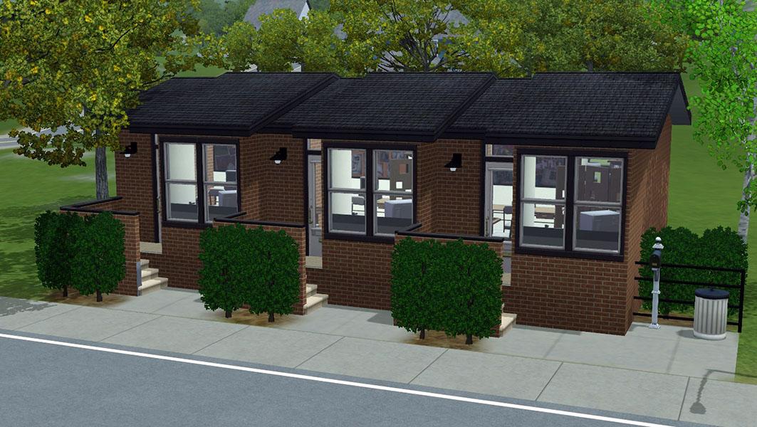 Mod the sims nona 10x15 3 unit apartment building no for Apartment design sims 3