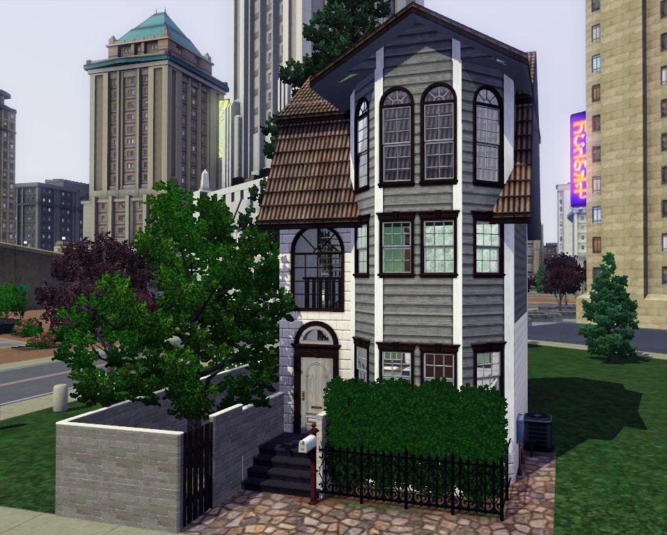Mod The Sims Beich A 10x10 Townhouse Starter No Cc