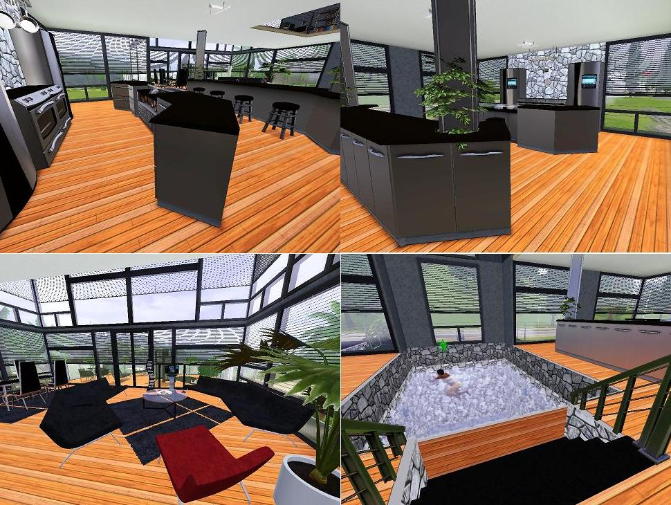 Mod the sims the bachelor pad for Sims interior designs 1