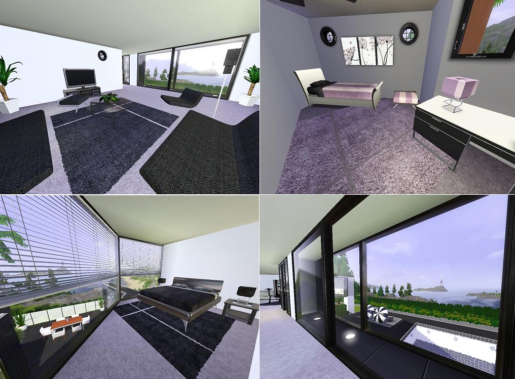 Mod the sims ozonemania inspired modern home - Sims 3 wohnzimmer modern ...