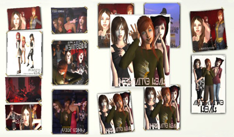 mod the sims simlish band posters