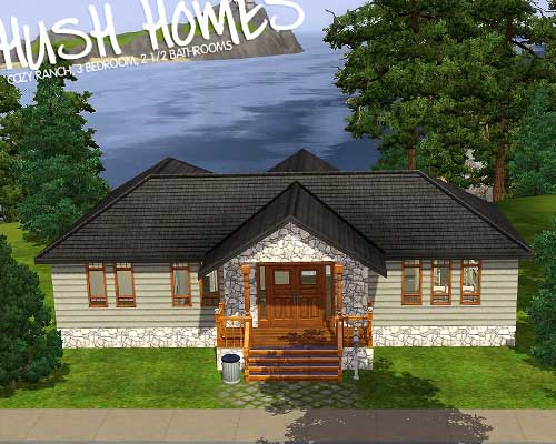 Mod the sims cozy ranch under 35 000 for 25x30 house plans