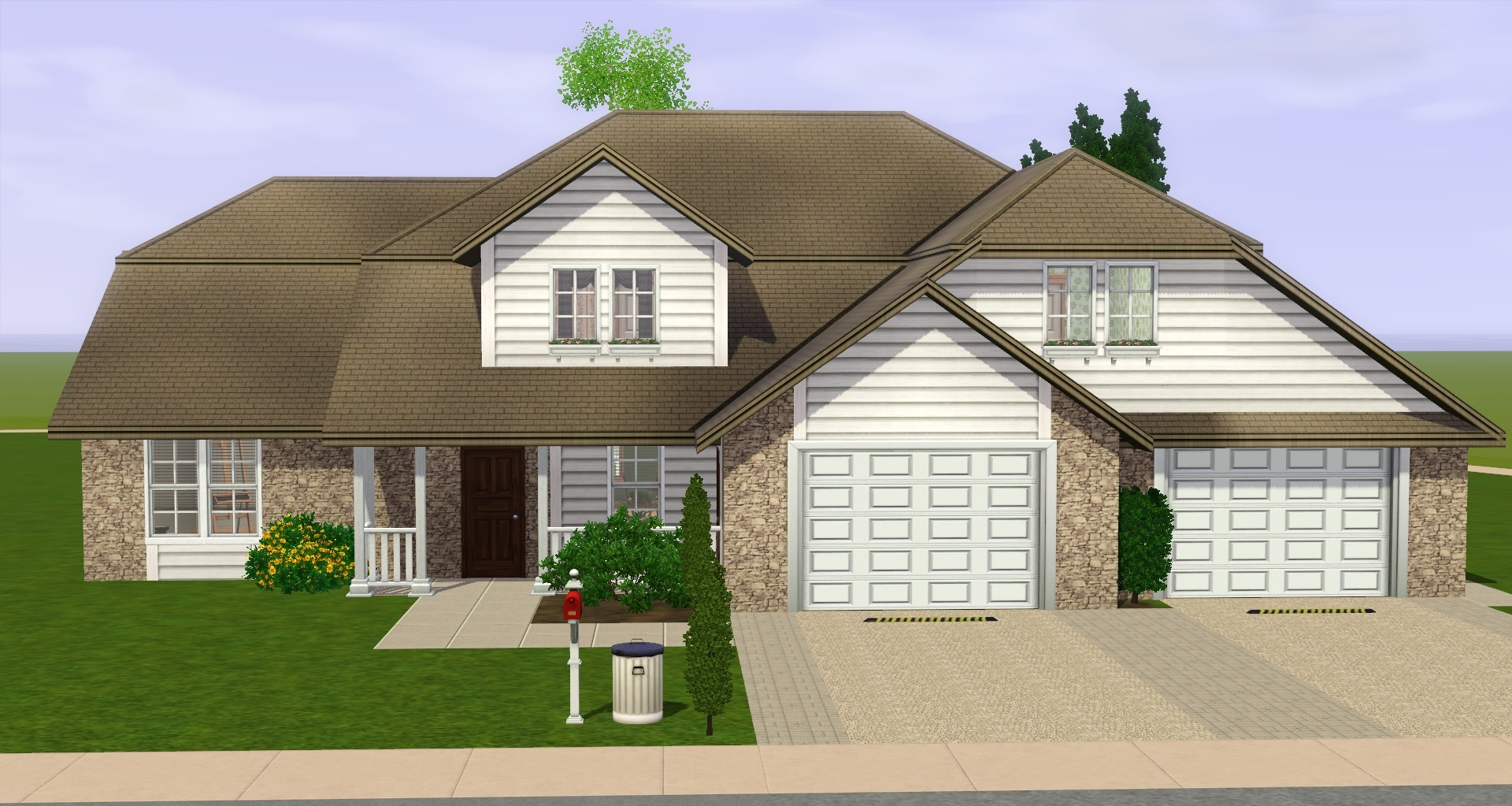 Mod the sims midwestern home for Jerkinhead roof construction