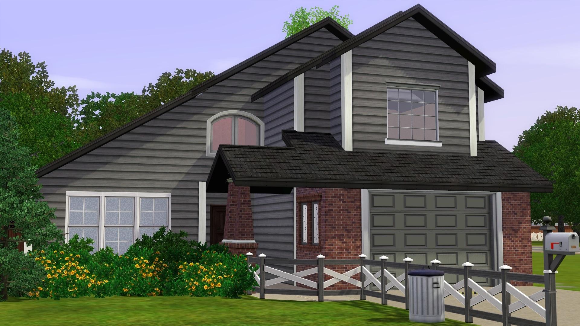 Mod the sims medium sized suburban home for Medium houses