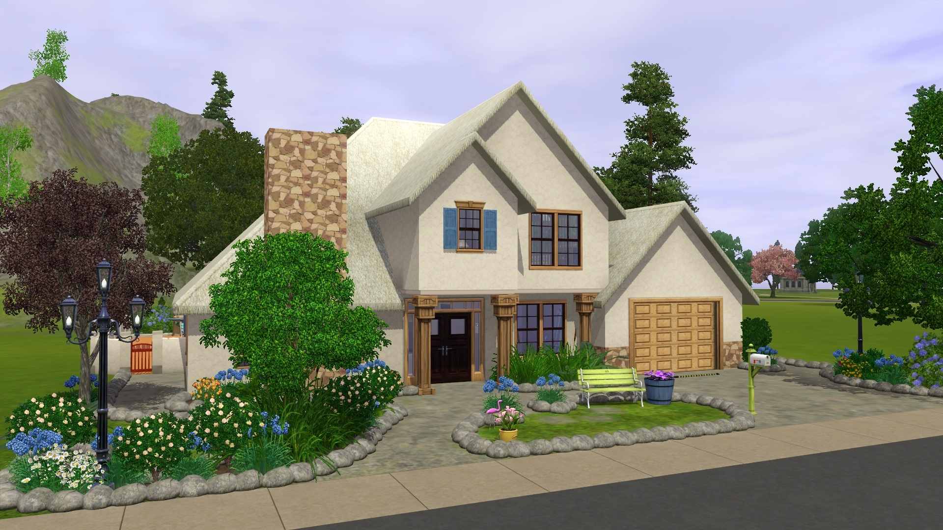 Mod the sims frenchy for New american style house plans