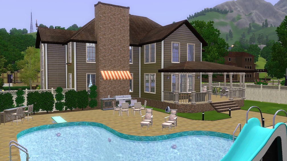 Mod the sims ricewood lane 3br 3ba no cc for Pool designs sims 4