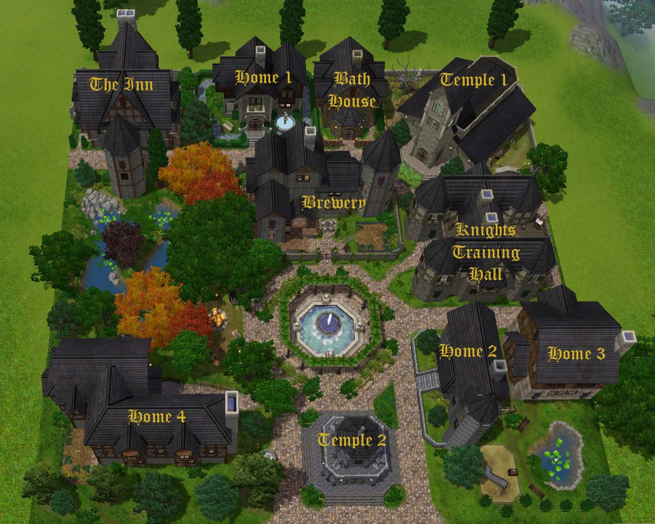 Mod The Sims Candle Town Temple District Medieval