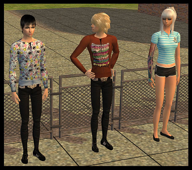 Mod The Sims - Drop Dead Clothing Set - BMTH/Oli Sykes