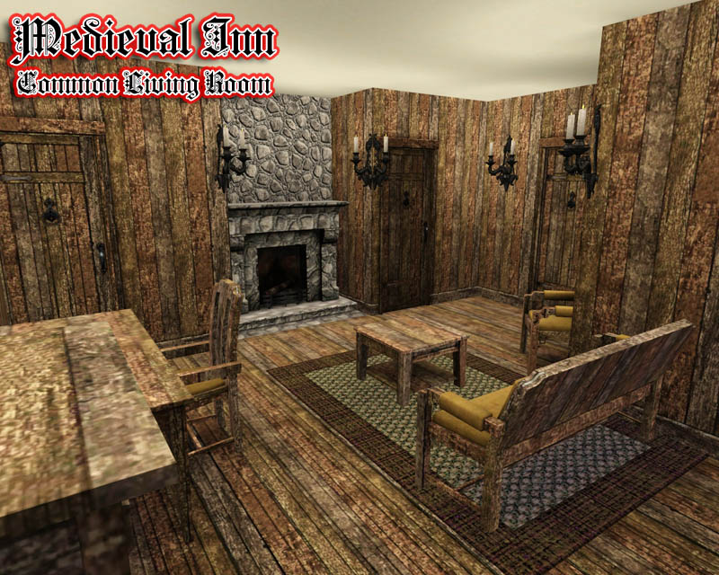 Mod the sims medieval inn for Medieval living room furniture