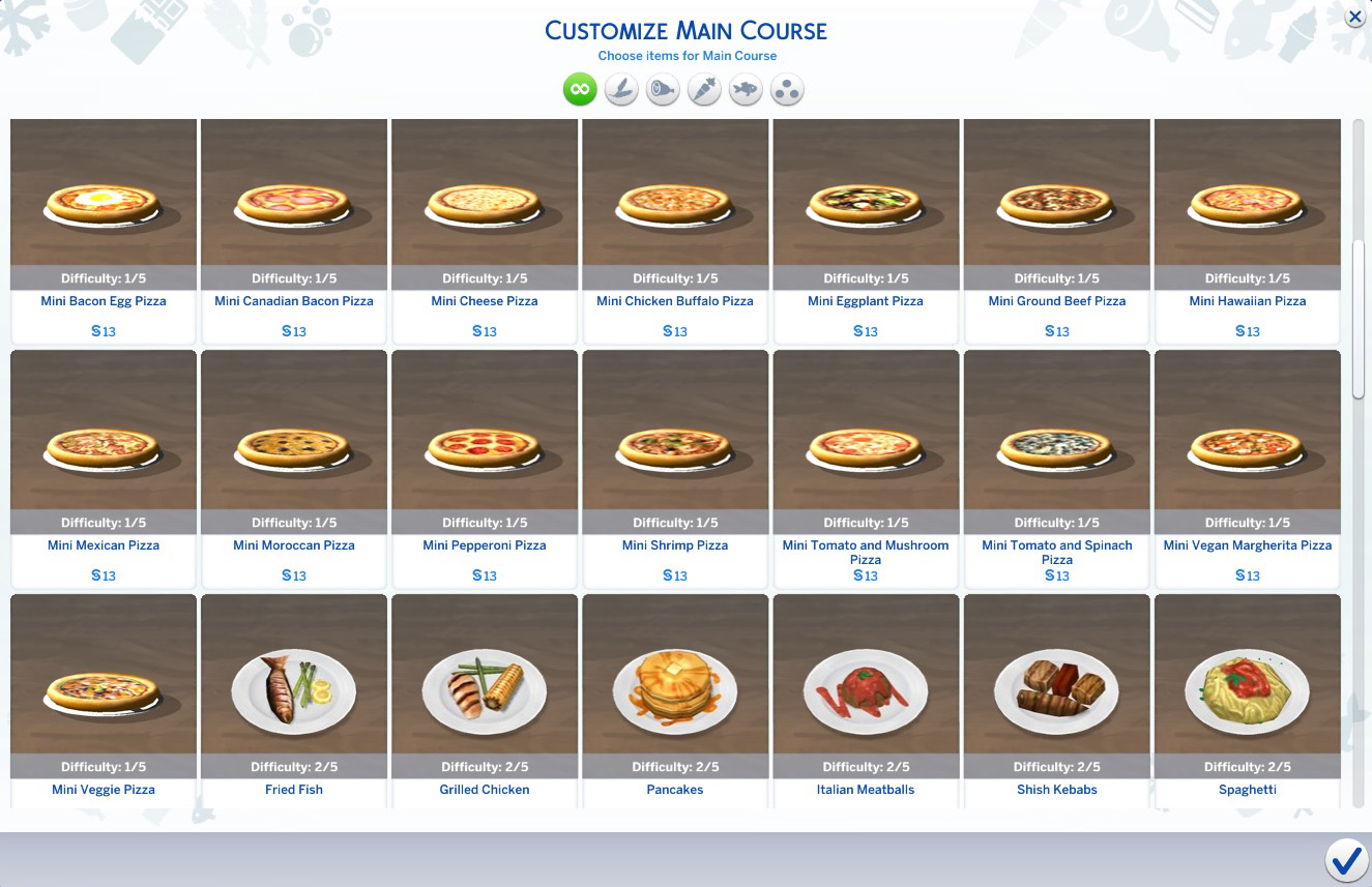 Sims Food Recipes