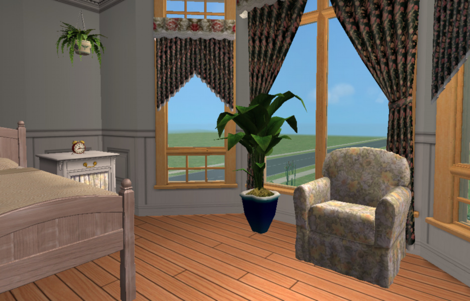Mod the sims darroby base game for Garden room 2x3