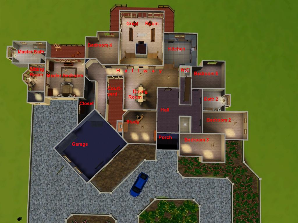 Mod the sims american dream for Sims 4 floor plans