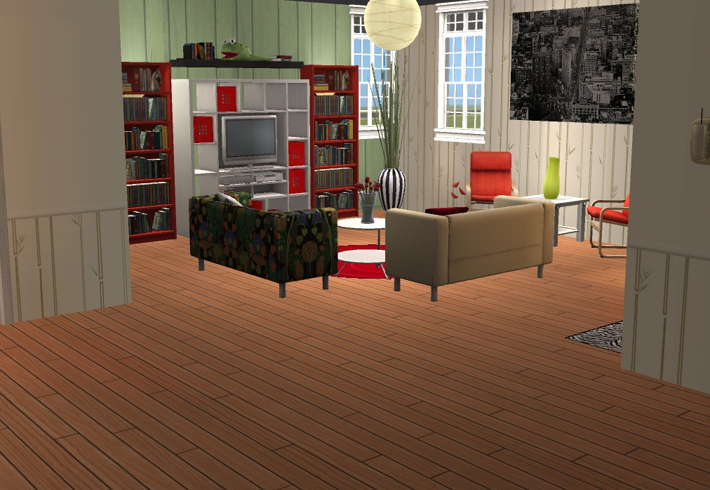 Mod the sims pippenville 8 one story home with 4 for Living room 4x3