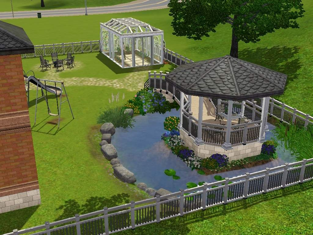 How To Make A Underground House Mod The Sims Luxury Home With Gazebo Greenhouse And Underground