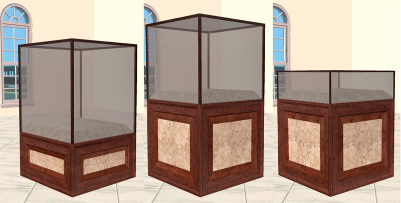 Mod the sims museum cabinets display cases for Case the sims 3 arredate