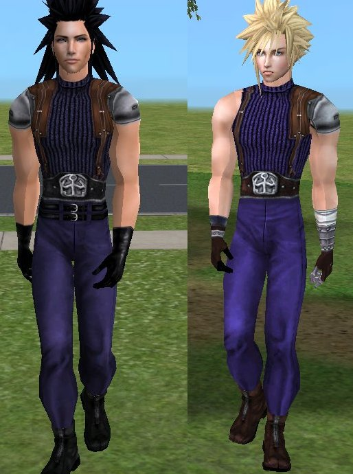 Mod The Sims - Cloud and Zack FFVII - OUTFITS **EDIT