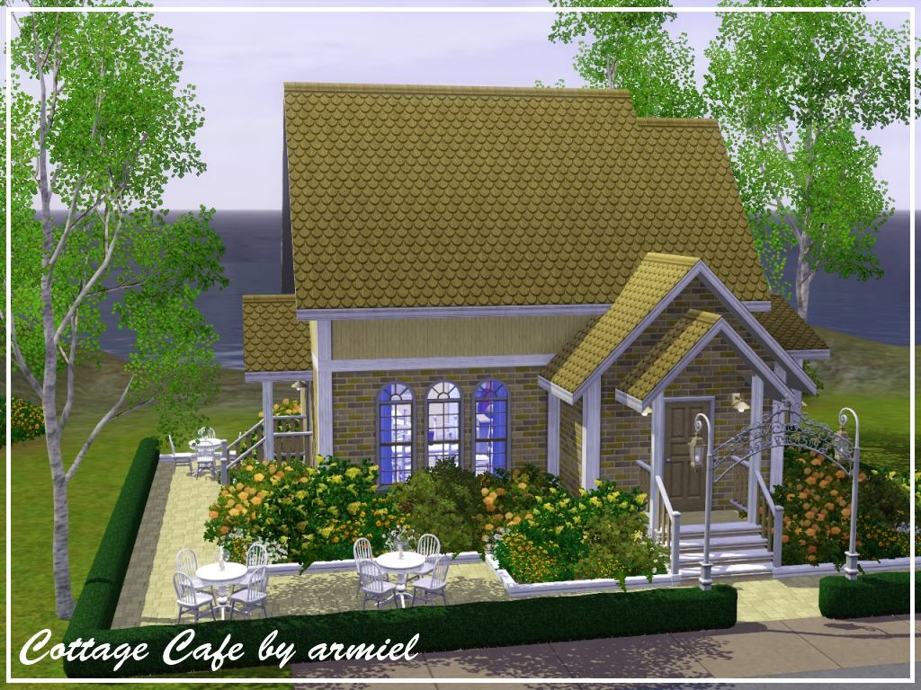 Коттедж кафе the sims
