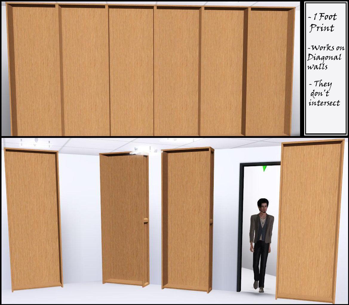 """Sliding Doors The Sims 4: Sliding Bookcase """" Hidden Door """""""
