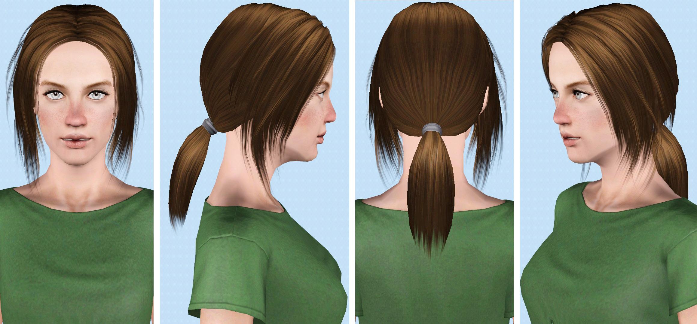 Mod The Sims Moonlight Female Hair Teen To Elder