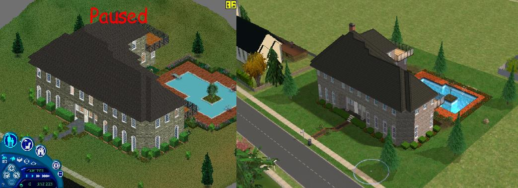 Mod the sims the sims 1 mansion for Classic house sims 3