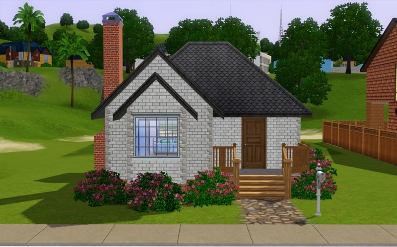 Mod the sims shabby chic starter for Minimalist house sims 2