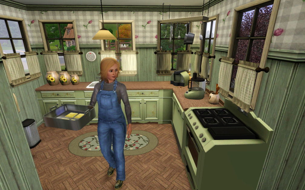 Mod The Sims   Puggle Farm   a cozy farm home     Click image for larger version Name  PugKitchen jpg Size        KB