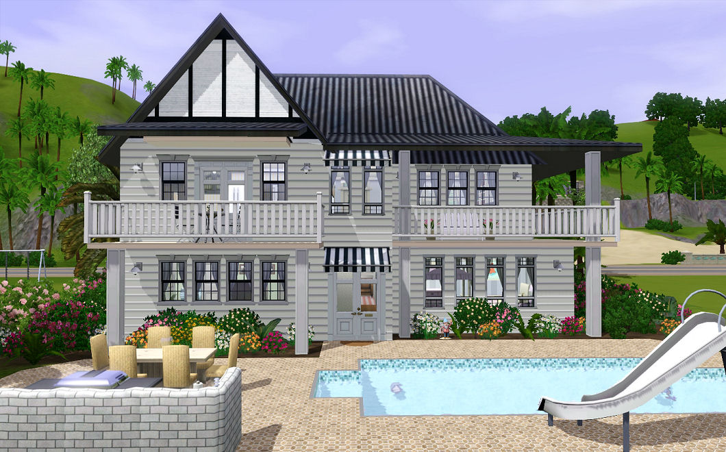 Mod the sims ocean shores a contemporary family beach for Beach house 3 free download