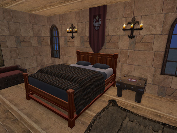medieval bedroom furniture. Double Bed  takes all colors from the single bed Mod The Sims Medieval Furniture Add Ons