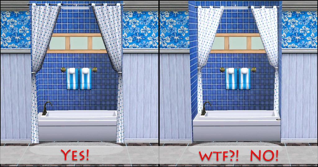 Mod the sims curtains stop snapping to that wall for Wall to wall curtain