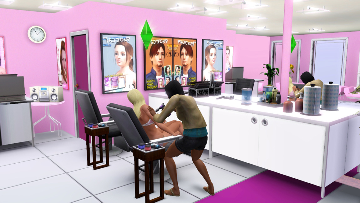the color scheme for the salon is a chic pink i liked how this turned out and thought id share beauty room furniture