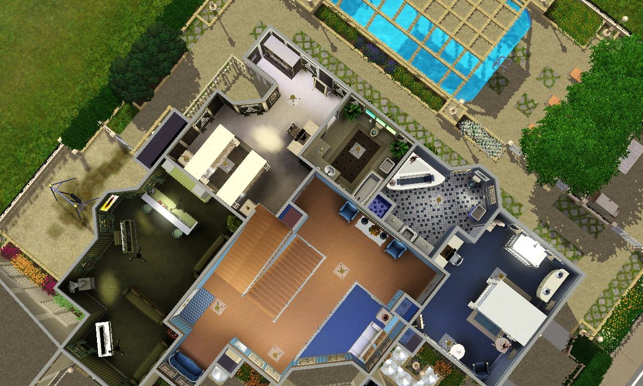 Mod the sims montague house for Work out floor area