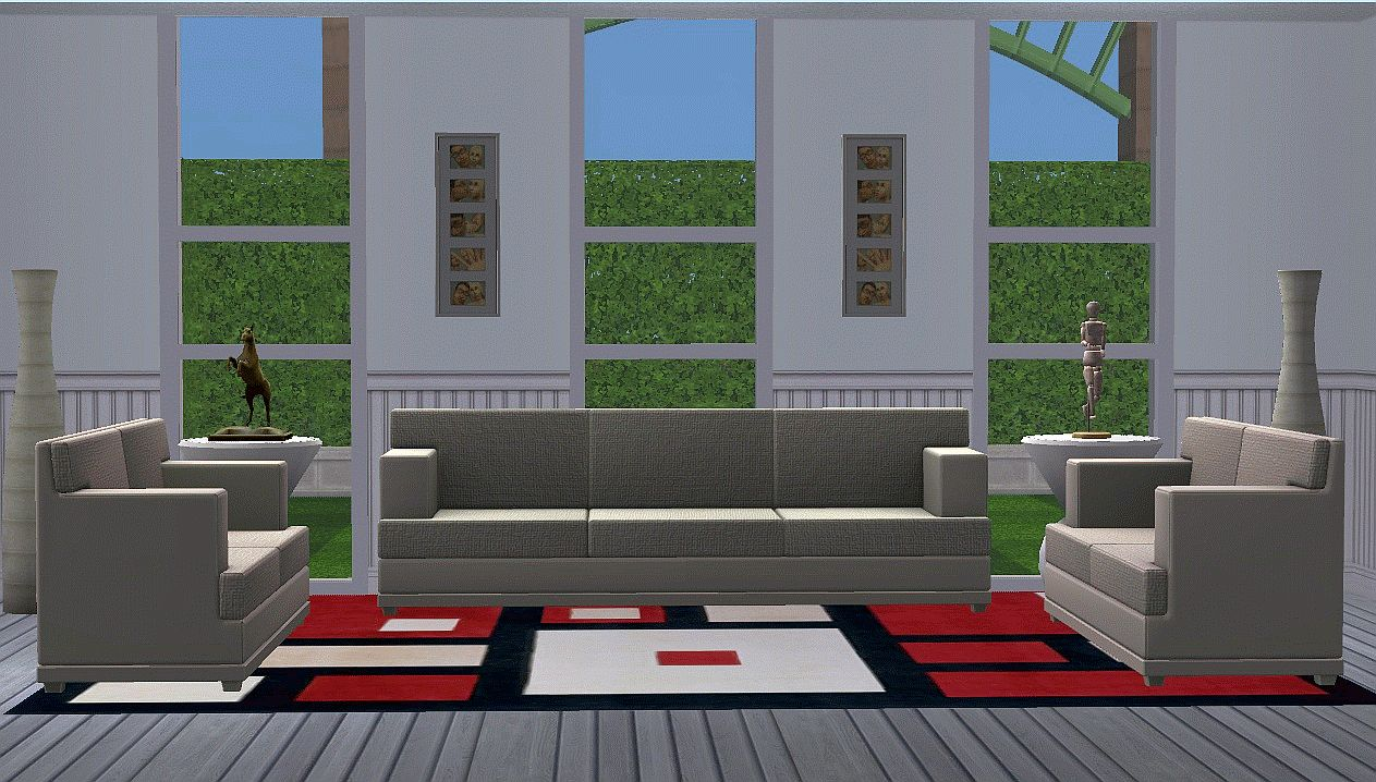 Mod the sims ts3 federal love seat and sofa for Chair of the fed game